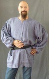 Steel Blue drawstring men's shirt