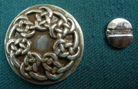 Pictish Knot Antiqued Silvertonebutton