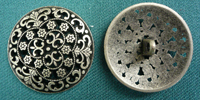 Silversmith Antiqued Silver Button