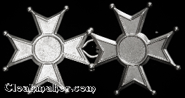 Maltese Cross<br>Large Silvertone