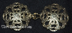 Filigree Quatrefoil<br>Antique goldtone