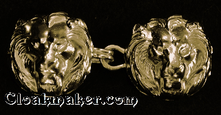 Lion Heads<br>Noble Goldtone