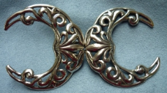 Filigree Crescent - Silvertone