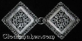 Filigree Diamond Floral<br>Silvertone