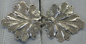Geranium Leaves<br>Large, Silvertone
