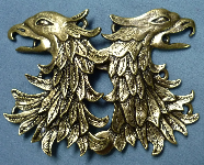 Griffon Head/Double Eagle<br>Bronzetone
