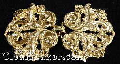 Leaf and Scroll - Goldtone