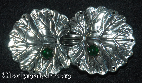 Lily Pad with Gems<br>Silvertone