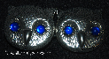 Owl Faces<br>w/Blue Eyes Silvertone