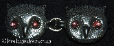 Owl Faces<br>w/Lt Purple Eyes Silvertone