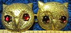 Owl Faces<br>w/Red Eyes