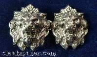 Lion Heads Bronze<br>Silvertone
