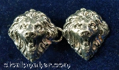Lion Heads<br>Small Bronze Silvertone