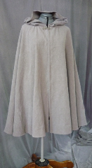 Cloak:2039, Cloak Style:Full Circle Cloak, Cloak Color:Grey, Fiber / Weave:Washed raw silk, Cloak Clasp:Antiquity, Hood Lining:Unlined, Back Length:36&quot;, Neck Length:20&quot;, Seasons:Summer, Spring, Fall, Note:This is light weight cloak of washed raw silk in medium matte grey,<br>great for a LARP or Renaissance Fair wear.<br>Easy care machine washable cotton and lightweight enough for indoor wear.<br>Perfect for Summer, Late Spring, Early Fall outerwear.<br>Finished with a dark finish Antiquity hook-and-eye clasp..