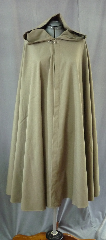 Cloak:2046, Cloak Style:Full Circle Cloak, Cloak Color:Sage Green, Fiber / Weave:Wool lycra blend, Cloak Clasp:Bavarian - Silvertone, Hood Lining:Unlined, Back Length:44.5&quot;, Neck Length:20&quot;, Seasons:Fall, Spring, Summer, Note:This light sage greencloak is made of a lightweight wool blend usually used for elegant suits.<br> Dry clean..