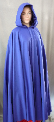 Cloak:2051, Cloak Style:Full Circle Cloak, Cloak Color:Royal Blue, Fiber / Weave:80% Wool, 20% Nylon wool Melton, Midweight., Cloak Clasp:Triple Medallion, Hood Lining:Navy Blue Crushed Velvet, Back Length:54.5&quot;, Neck Length:21&quot;, Seasons:Fall, Spring, Winter, Note:This warm and beautiful cobalt cloak <br>made of 80% wool and 20% nylon is a great balance of luxury and value! <br>The actual cloak is darker than the picture.<br>The full-sized hood is lined in a stunning blue crushed velvet, for even more elegance. <br>Finished with a sturdy pewter Triple Medallion hook-and-eye clasp..