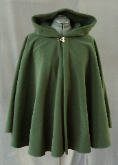 Cloak:2086, Cloak Style:Full Circle Short Cloak, Cloak Color:Loden Green, Fiber / Weave:WindPro Fleece, Cloak Clasp:Double Spiral, Hood Lining:Self-lining, Back Length:30&quot;, Neck Length:21&quot;, Seasons:Winter, Fall, Spring, Note:This short full circle cloak is perfect for the days when you want an extra layer.<br>It&#039;s a soft and rain resistant Windpro fleece,<br>in Loden green with a double spiral clasp.<br>Machine wash cold, tumble dry..