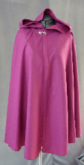 Cloak:2089, Cloak Style:Fuller Half Circle Short, Cloak Color:Dusty Rose, Fiber / Weave:Wool Gabardine, Cloak Clasp:Fleur de Lis, Hood Lining:Unlined, Back Length:38&quot;, Neck Length:20.5&quot;, Seasons:Fall, Spring, Note:This wool gabardine short cloak is lightweight and flowy.<br>It&#039;s a very pretty dusty rose color, finished with a pewter Fleur de Lis clasp..