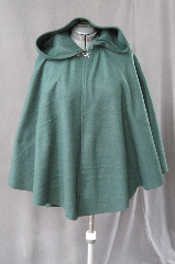 Cloak:2106, Cloak Style:Full Circle Short Cloak, Cloak Color:Green, Fiber / Weave:Fleece, Cloak Clasp:Plain Rope<br>Hook & Eye, Hood Lining:Self-lining, Back Length:31&quot;, Neck Length:17&quot;, Seasons:Fall, Spring.