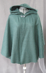 Cloak:2112, Cloak Style:Full Circle Short Cloak, Cloak Color:Green, Fiber / Weave:Fleece, Cloak Clasp:Plain Rope<br>Hook & Eye, Hood Lining:Self-lining, Back Length:30.5&quot;, Neck Length:21&quot;, Seasons:Fall, Spring.