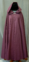 Cloak:2176, Cloak Style:Full Circle Cloak, Cloak Color:Burgundy Wine Red, Fiber / Weave:Washed Cotton Twill, Cloak Clasp:Antiquity, Hood Lining:Unlined, Back Length:54&quot;, Neck Length:24&quot;, Seasons:Fall, Spring, Note:Easy care washed cotton twill<br>makes this cloak an easy choice for a little<br>extra warmth on a spring evening.<br>Since it&#039;s washed cotton, it has that slightly distressed, worn-in look.<br>Great for a day at the Renaissance Fair<br>or a weekend LARP.<br>Machine washable cold gentle, tumble dry low.<br>Throw it on and go!.