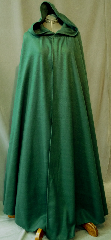 Cloak:2187, Cloak Style:Full Circle Cloak, Cloak Color:Spruce Green, Fiber / Weave:Polyester Fleece, Cloak Clasp:Antiquity, Hood Lining:Self-lining, Back Length:58&quot;, Neck Length:22.5&quot;, Seasons:Fall, Spring, Note:This dark green cloak goes back to the basics.<br>It&#039;s a full circle cloak, made from a very soft,<br>light weight polyester fleece.<br>Finished with an  Antiquity<br>hook and eye clasp..