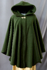 "Cloak:2240, Cloak Style:Cape / Ruana, Cloak Color:Green, Fiber / Weave:WindPro Lite Fleece, Cloak Clasp:Vale, Hood Lining:Self-lining, Back Length:38"", Neck Length:24"", Seasons:Spring, Fall, Southern Winter, Winter, Note:Water resistant."