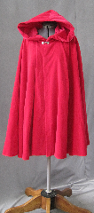 Cloak:2342, Cloak Style:Full Circle Short Cloak, Cloak Color:American Beauty Rose Red, Fiber / Weave:Washed Cotton Velveteen, Cloak Clasp:Alpine Knot - Silvertone, Hood Lining:Unlined, Back Length:34.5&quot;, Neck Length:22&quot;, Seasons:Summer, Fall, Spring, Note:Star in your own fairy tale!<br>This unlined, washed velveteen full-circle cloak will let<br>you bring Red Riding hood to life for your own adventures.<br>Machine wash cold, gentle, hang to dry, touch up with an iron..