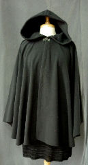 Cloak:2364, Cloak Style:Cape / Ruana, Cloak Color:Very Dark Grey, Fiber / Weave:WindPro Fleece, Cloak Clasp:Plain Rope<br>Hook & Eye, Hood Lining:Self-lining, Back Length:32&quot;, Neck Length:22&quot;, Seasons:Winter, Fall, Spring, Note:This cloak is listed on sale due to surface flaws in the lining.<br>They will NOT affect appearance or wear of cloak. Please call us for details.