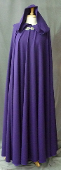 Cloak:2400, Cloak Style:Full Circle Cloak, Cloak Color:Vibrant Royal Purple, Fiber / Weave:Wool, Cloak Clasp:Gothic Heart, Hood Lining:Unlined, Back Length:59&quot;, Neck Length:21&quot;, Seasons:Summer, Spring, Fall, Note:This vibrant royal purple full circle cloak was created<br>from a suiting fabric. The cloak<br>drapes beautifully, flows well, is wrinkle resistant<br>and provides warmth and wind resistance<br>suitable for cool spring and summer evenings..