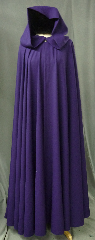 Cloak:2417, Cloak Style:Full Circle Cloak, Cloak Color:Vibrant Royal Purple, Fiber / Weave:Wool Blend, Cloak Clasp:Antiquity, Hood Lining:Unlined, Back Length:57&quot;, Neck Length:21.5&quot;, Seasons:Summer, Spring, Fall, Note:This vibrant royal purple full circle cloak was created<br>from a suiting fabric. The cloak<br>drapes beautifully, flows well, is wrinkle resistant<br>and provides shoulder warmth and wind resistance<br>suitable for cool spring and summer evenings..