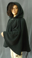Cloak:2472, Cloak Style:Full Circle Short Cloak, Cloak Color:Black, Fiber / Weave:WindPro Fleece, Cloak Clasp:Plain Rope<br>Hook & Eye, Hood Lining:Self-lining, Back Length:24&quot;, Neck Length:22&quot;, Seasons:Southern Winter, Fall, Spring, Note:Luxurious, functional, and economically friendly!<br>This windpro cloak blocks more wind than<br>a basic fleece and has a water-repelling outer finish!<br>It&#039;s perfect for New England winters and cold,<br>rainy, windy climates.<br>The inside of the fabric wicks up moisture keeping<br>you dry and warm.<br>Machine washable cold gentle, tumble dry low.<br>Throw it on and go!.