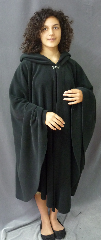 Cloak:2476, Cloak Style:Cape / Ruana, Cloak Color:Black, Fiber / Weave:WindPro Fleece, Cloak Clasp:Plain Rope<br>Hook & Eye, Hood Lining:Self-lining, Back Length:45.5&quot;, Neck Length:24&quot;, Seasons:Southern Winter, Fall, Spring, Note:Luxurious, functional, and economically friendly!<br>This windpro cloak blocks more wind than<br>a basic fleece and has a water-repelling outer finish!<br>It&#039;s perfect cold, rainy, windy climates.<br>The inside of the fabric wicks up moisture keeping<br>you dry and warm.<br>Machine washable cold gentle, tumble dry low.<br>Throw it on and go!.
