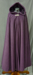 Cloak:2571, Cloak Style:Full Circle Cloak, Cloak Color:Dusty Plum Purple, Fiber / Weave:Hi Loft Fleece (long silky fur inside) with durable water resistant finish, Cloak Clasp:Triple Medallion, Hood Lining:Self-lining - Deep Plum Purple, Back Length:52&quot;, Neck Length:23&quot;, Seasons:Southern Winter, Fall, Spring, Note:This Hi-Loft fleece cloak blocks more wind than<br>a basic fleece and has a durable water resistant outer finish!<br>It&#039;s perfect for cool,<br>rainy, windy climates.<br>Machine washable cold gentle, tumble dry low.<br>Throw it on and go!.