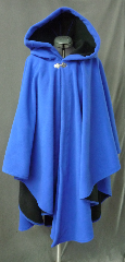 Cloak:2573, Cloak Style:Cape / Ruana extra long (30&quot;) over the shoulder, Cloak Color:Royal Blue / Black 2 toned, Fiber / Weave:Windblock Polar Fleece, Cloak Clasp:Vale, Hood Lining:Self-lining, Back Length:43&quot;, Neck Length:22&quot;, Seasons:Winter, Fall, Spring, Note:A cross between a cape and a cloak, a ruana<br>is a great way to keep warm while<br>frequent, unhindered use of your arms <br>is needed. Ruanas make great driving cloaks!<br>This one is made from windblock polar fleece<br> which is both wind proof and water resistant.<br>Machine washable on gentle and tumble dry low inside out..