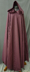 "Cloak:2577, Cloak Style:Full Circle Cloak, Cloak Color:Burgundy tone on tone dot pattern, Fiber / Weave:Cotton Jacquard, Cloak Clasp:Vale, Hood Lining:Unlined, Back Length:61"", Neck Length:20"", Seasons:Summer, Fall, Spring."