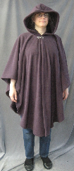 Cloak:2599, Cloak Style:Cape / Ruana, Cloak Color:Dusty Plum Purple, Fiber / Weave:Hi Loft Fleece (long silky fur inside) with durable water resistant finish, Cloak Clasp:Vale, Hood Lining:Self-lining - Deep Plum Purple, Back Length:39&quot;, Neck Length:20&quot;, Seasons:Southern Winter, Fall, Spring, Note:This Hi-Loft fleece cloak blocks more wind than<br>a basic fleece and has a durable water resistant outer finish!<br>It&#039;s perfect for cool,<br>rainy, windy climates.<br>Machine washable cold gentle, tumble dry low.<br>Throw it on and go!.
