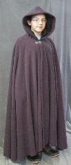 Cloak:2606, Cloak Style:Full Circle Cloak, Cloak Color:Dusty Plum Purple, Fiber / Weave:Hi Loft Fleece (long silky fur inside) with durable water resistant finish, Cloak Clasp:Vale, Hood Lining:Self-lining - Deep Plum Purple, Back Length:46&quot;, Neck Length:21&quot;, Seasons:Southern Winter, Fall, Spring, Note:This Hi-Loft fleece cloak blocks more wind than<br>a basic fleece and has a durable water resistant outer finish!<br>It&#039;s perfect for cool,<br>rainy, windy climates.<br>Machine washable cold gentle, tumble dry low.<br>Throw it on and go!<br>Note, the model is 4&#039; 10&quot;.