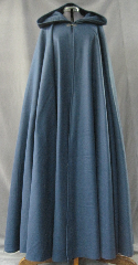 Cloak:2621, Cloak Style:Full Circle Cloak, Cloak Color:Steel Blue, Fiber / Weave:Fleece, Cloak Clasp:Antiquity, Hood Lining:Unlined, Back Length:55&quot;, Neck Length:23&quot;, Seasons:Fall, Spring, Summer, Note:Lightweight economy fleece provides warmth with<br>very little weight.&nbsp;Suitable for indoor wear, late spring,<br>early fall, or cool summer evenings.<br>Machine washable cold, tumble dry low.<br>Throw it on and go!.