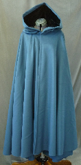 "Cloak:2641, Cloak Style:Full Circle Cloak, Cloak Color:Teal, Fiber / Weave:100% Wool Melton, Hood Lining:Black Silk Velvet, Back Length:46"", Neck Length:21"", Seasons:Winter, Fall, Spring, Note:Dry Clean only."