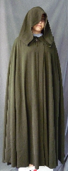 "Cloak:2646, Cloak Style:Full Circle Cloak, Cloak Color:Dark Pine Green, Fiber / Weave:50% Wool/50% Rayon, Cloak Clasp:Vale, Hood Lining:Unlined, Back Length:52"", Neck Length:19"", Seasons:Summer, Spring, Fall, Note:Machine Wash & Dry."