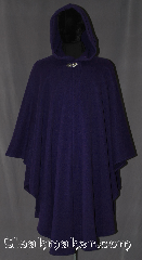 Cloak:2657, Cloak Style:Cape / Ruana extra long (33&quot;) over the shoulder, Cloak Color:Bright Royal Purple, Fiber / Weave:Midweight Fleece with sweater knit surface, Cloak Clasp:Vale, Hood Lining:Self-lining, Back Length:48&quot;, Neck Length:24&quot;, Seasons:Fall, Spring, Southern Winter, Note:A cross between a cape and a cloak, a ruana<br>is a great way to keep warm while<br>frequent, unhindered use of your arms <br>is needed. Ruanas make great driving cloaks!<br>This Ruana is extra long (33&quot;)<br>over the shoulders for even more coverage.<br>Machine washable cold gentle, tumble dry low.<br>Throw it on and go!.
