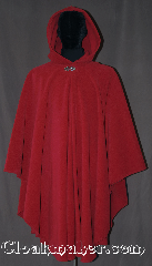 Cloak:2669, Cloak Style:Cape / Ruana, Cloak Color:Rose Red, Fiber / Weave:Honeycomb Surface Fleece, Cloak Clasp:Vale, Hood Lining:Unlined, Back Length:47&quot;, Neck Length:23&quot;, Seasons:Southern Winter, Fall, Spring, Note:A cross between a cape and a cloak, a ruana<br>is a great way to keep warm while<br>frequent, unhindered use of your arms <br>is needed. Ruanas make great driving cloaks!<br>This Ruana is extra long (34&quot;)<br>over the shoulders for even more coverage.<br>Machine washable cold gentle, tumble dry low.<br>Throw it on and go!.