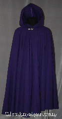"Cloak:2678, Cloak Style:Full Circle Cloak, Cloak Color:Imperial Purple, Fiber / Weave:80% Wool / 20% Nylon, Cloak Clasp:Antiquity, Hood Lining:Unlined, Back Length:47"", Neck Length:22"", Seasons:Summer."