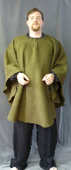 Cloak:2693, Cloak Style:Poncho / Ruana, Cloak Color:Loden Green, Fiber / Weave:Windpro Fleece, Cloak Clasp:Hook & Eye, Hood Lining:N/A, Back Length:41&quot;, Neck Length:23&quot;, Seasons:Winter, Southern Winter, Fall, Spring, Note:This fabric does not have a water resistant finish.<br>The fabric is double layer and is<br>thicker and warmer than most Windpro fleece..