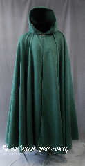 "Cloak:2781, Cloak Style:Full Circle Cloak, Cloak Color:Forest Green, Fiber / Weave:100% Polyester Economy Fleece, Cloak Clasp:Vale, Hood Lining:Unlined, Back Length:53"", Neck Length:23"", Seasons:Fall, Spring."