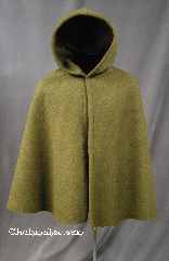 Cloak:2785, Cloak Style:Shaped Shoulder Cloak - Short (Youth), Cloak Color:Green, Fiber / Weave:Windpro Fleece, Cloak Clasp:TBD, Hood Lining:Unlined, Back Length:30.5&quot;, Neck Length:19&quot;, Seasons:Winter, Southern Winter, Fall, Spring, Note:Perfect Starter cloak for a child.<br>With a shaped shoulder for a more tailored look.<br>Machine washable cold tumble dry low.<br>The cost of the clasp is included.<br>This fabric does not have a water resistant finish.<br>The fabric is double layer and is<br>thicker and warmer than most Windpro fleece..