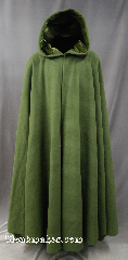 Cloak:3167, Cloak Style:Full Circle Cloak, Cloak Color:Green, Fiber / Weave:Wool Cashmere Blend, Cloak Clasp:Triple Medallion, Hood Lining:olive Green Silk Velvet, Back Length:56&quot;, Neck Length:21&quot;, Seasons:Winter, Fall, Spring, Note:This Wool Cashmere blend cloak is<br>perfect for cool evenings<br>adding a touch of drama and elegance.<br>Features a green silk velvet lined hood,<br>finished off with a triple medallion<br>hook-and-eye clasp.<br>Spot or dry clean only.<br>Can be hemmed to height..