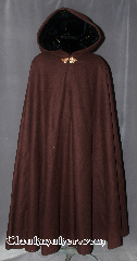 Cloak:2800, Cloak Style:Full Circle Cloak, Cloak Color:Milk Chocolate Brown, Fiber / Weave:100% Heavy Wool Melton, Cloak Clasp:TBD<br>shown with a Thimbleberry Clasp, Hood Lining:Emerald Green Velvet, Back Length:54&quot;, Neck Length:24&quot;, Seasons:Spring, Fall, Southern Winter, Winter, Note:A heavy weight cloak made from<br>100% Wool with a soft feel.<br>Actual clasp TBD<br>Pictured  with a brass Thimbleberry<br>hook clasp and lined with a rich<br>emerald green velvet for an organic flair.<br>Dry Clean only.