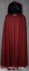 Cloak:2847, Cloak Style:Full Circle Cloak, Cloak Color:Maroon, Fiber / Weave:100% Wool, Cloak Clasp:Vale, Hood Lining:Navy Blue Velvet, Back Length:54&quot;, Neck Length:20&quot;, Seasons:Spring, Fall, Note:This Lightweight Maroon cloak has a<br>dramatic swoosh/drape perfect for<br>cool evenings. Accented with a<br>Silvertone Vale hook-and-eye clasp<br>and Navy velvet lined hood.<br>Dry Clean only..